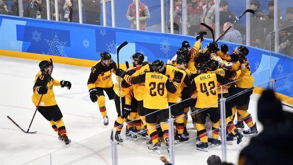 La selección alemana de hockey sobre hielo - Sputnik Mundo