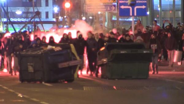 Pelea violenta en las calles de Bilbao antes del partido entre el Athletic y el Spartak - Sputnik Mundo