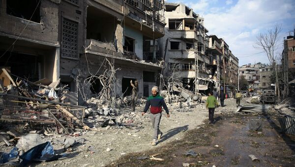 Situación en Guta Oriental siria (archivo) - Sputnik Mundo