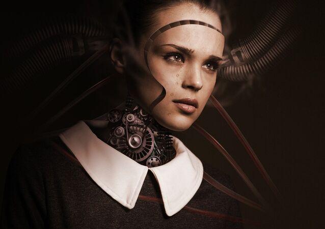 Una robot, ilustración