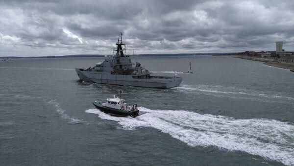 Buque patrullero HMS Mersey, foto de archivo - Sputnik Mundo