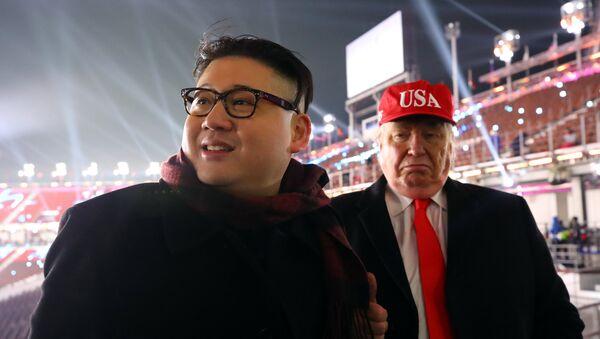 'Kim Jong-un' y 'Donald Trump': - Sputnik Mundo