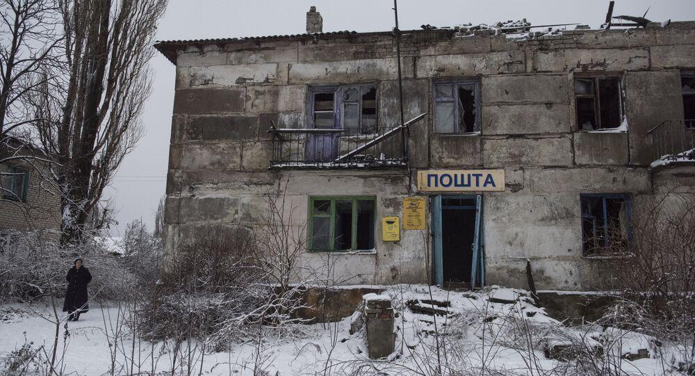 La situación en Lugansk, Donbás