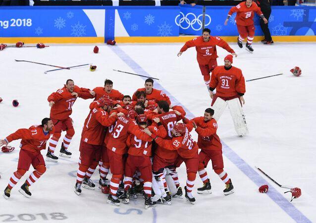 Jugadores de hockey rusos