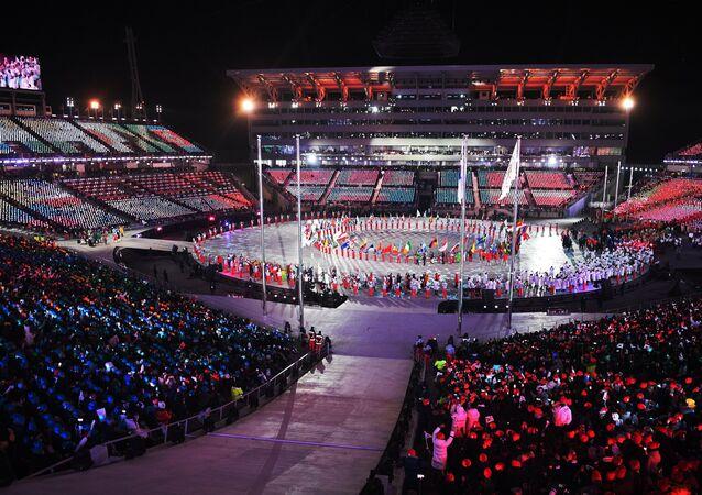 La ceremonia de clausura de los Juegos Olímpicos de Invierno de Pyeongchang
