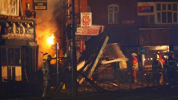 Lugar del explosión en Leicester - Sputnik Mundo