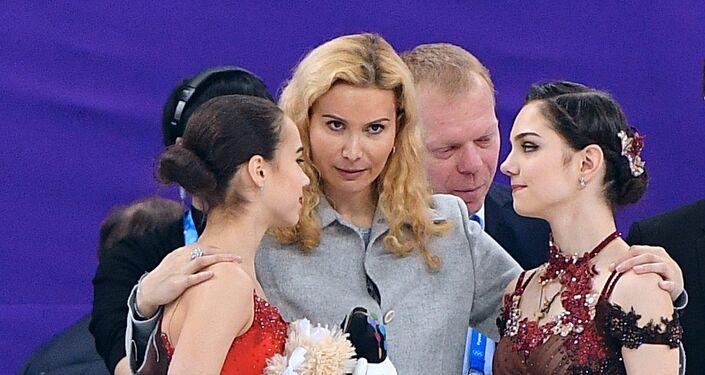La entrenadora Eteri Tutberidze