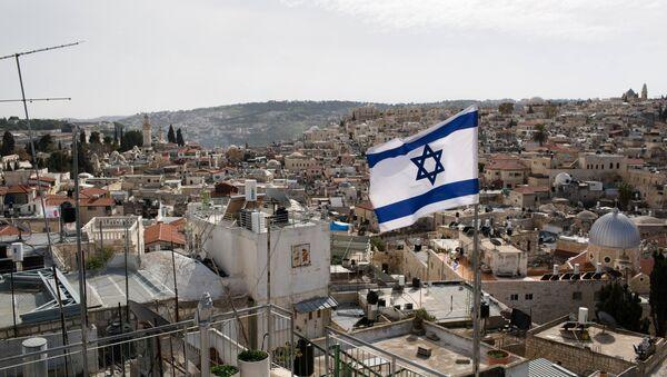 Bandera israelí en Jerusalén - Sputnik Mundo