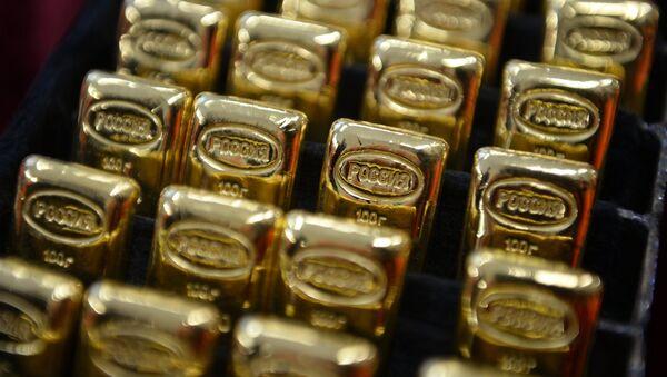 Lingotes de oro de Rusia - Sputnik Mundo