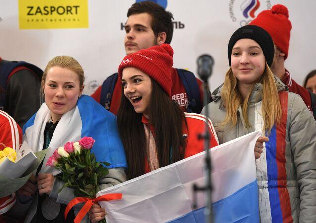 Así recibieron los fans en Moscú a sus héroes de Pyeongchang