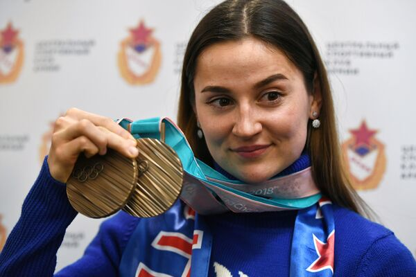Así recibieron los fans en Moscú a sus héroes de Pyeongchang - Sputnik Mundo