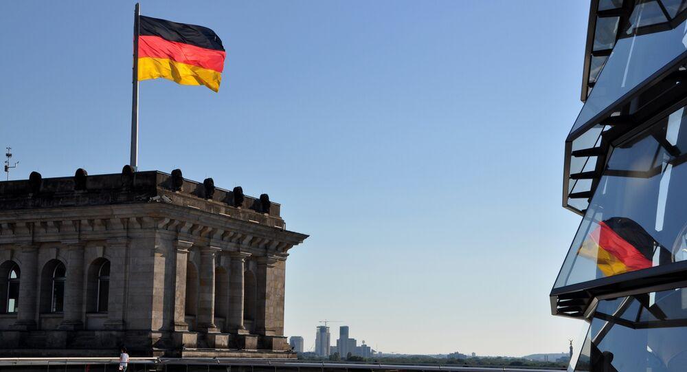 Bandera de Alemania en Berlín