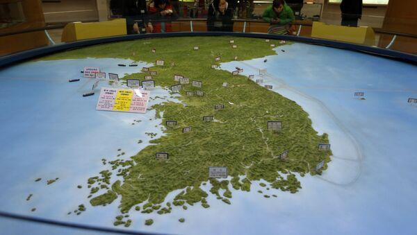 Un mapa de la península de Corea (imagen ilustrativa) - Sputnik Mundo