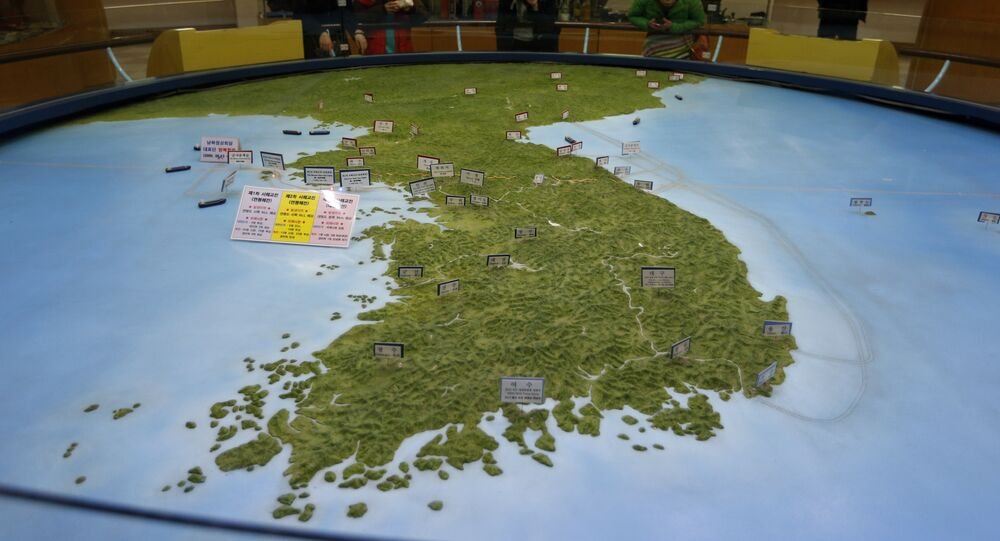 Un mapa de la península de Corea (imagen ilustrativa)