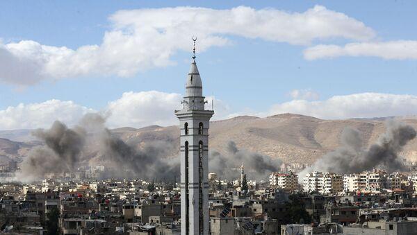 Situación en Guta Oriental, suburbio de Damasco, la capital de Siria - Sputnik Mundo