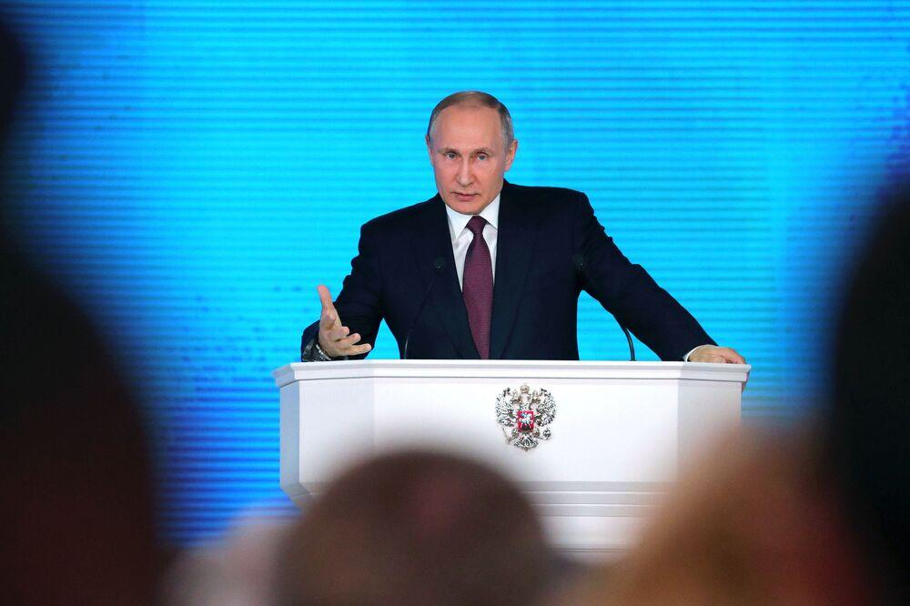 Vladímir Putin ofrece su mensaje anual ante la Asamblea Federal de Rusia