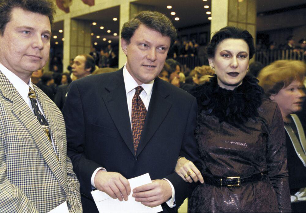 El líder del movimiento social y político Yábloko y miembro de la Duma Estatal de Rusia, Grigori Yavlinski, en el estreno de la película 'El barbero de Siberia'