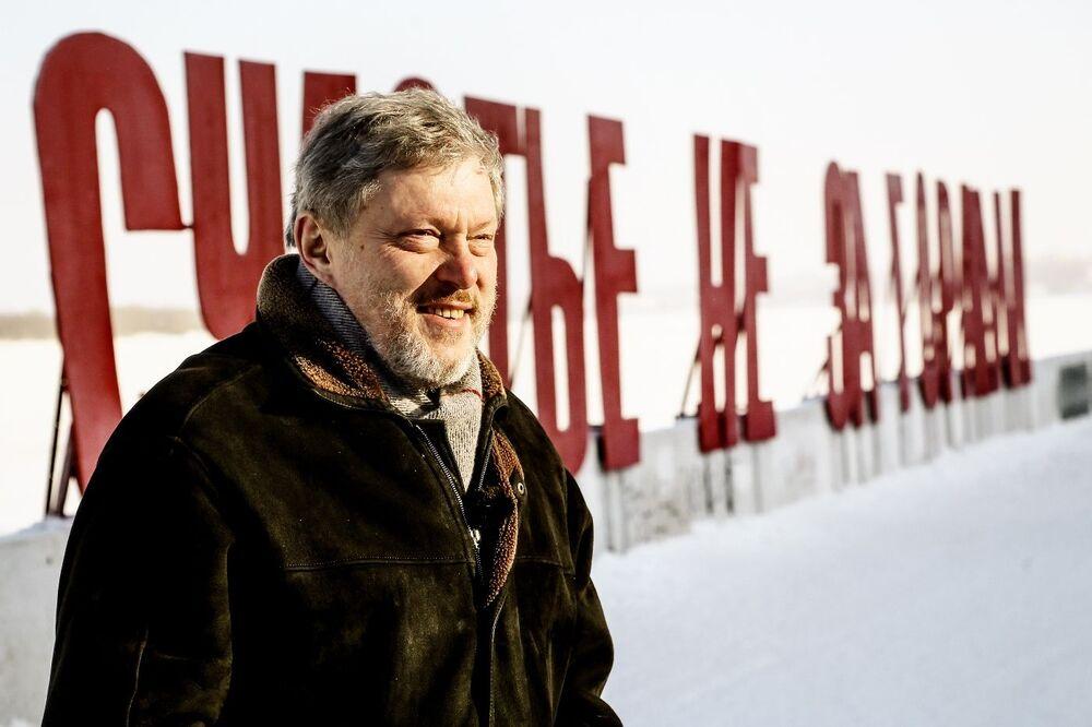 El candidato a la Presidencia de Rusia por el partido Yábloko, Grigori Yavlinski, en Perm
