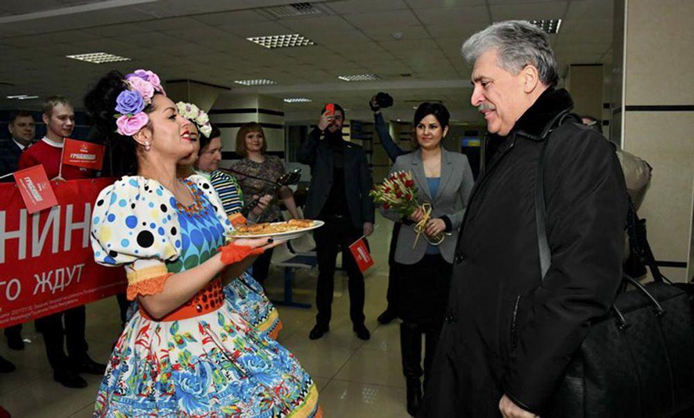 El candidato a la Presidencia de Rusia por el Partido Comunista, Pável Grudinin