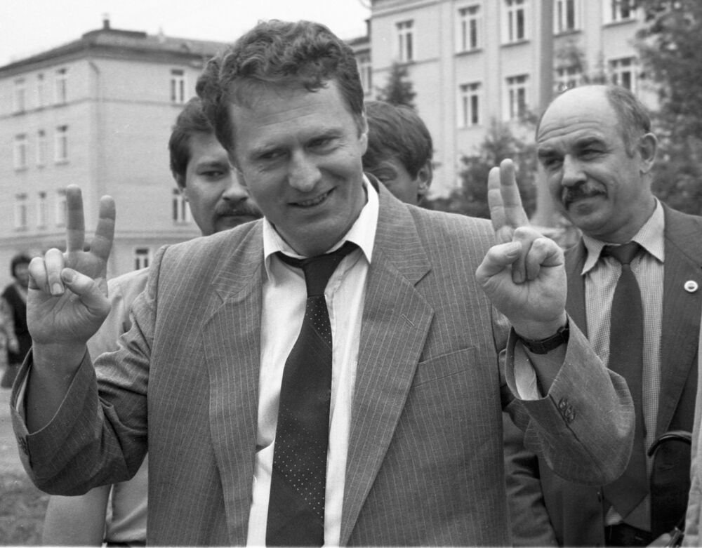 El candidato a la Presidencia de Rusia, Vladímir Zhirinovski