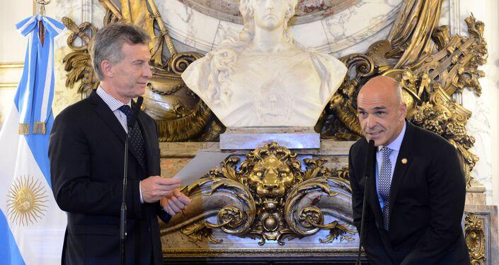 Mauricio Macri, expresidente de Argentina y Gustavo Arribas, exdirector de la Agencia Federal de Inteligencia de Argentina