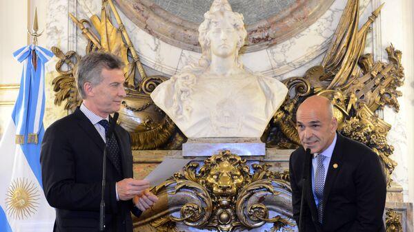 Mauricio Macri, presidente de Argentina y Gustavo Arribas, director de la Agencia Federal de Inteligencia de Argentina - Sputnik Mundo