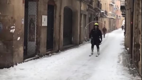 ¿Hélice y esquís? La original propuesta de un esquiador catalán - Sputnik Mundo