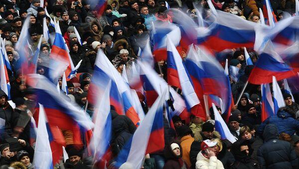'Concierto-mitin' en apoyo al candidato a la Presidencia de Rusia Vladímir Putin - Sputnik Mundo