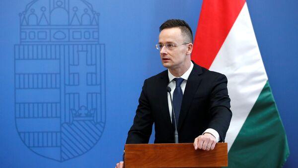 El Ministro de Asuntos Exteriores húngaro Peter Szijjarto, imagen referencial - Sputnik Mundo