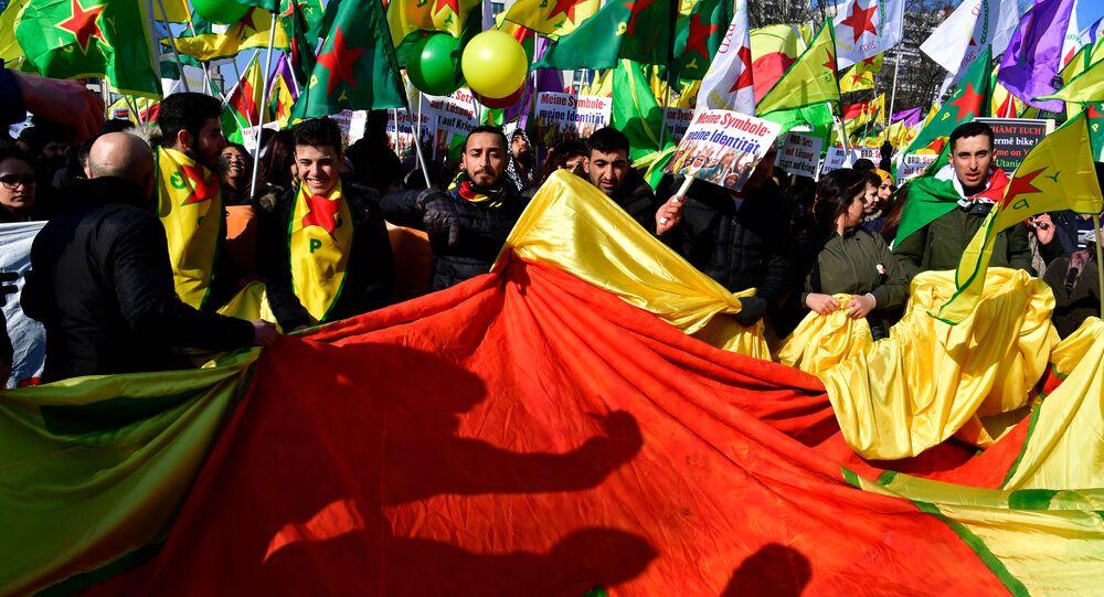 Manifestación de protesta en Berlín
