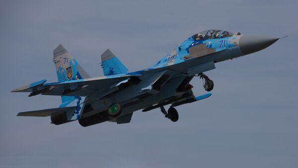 Un avión Su-27 de las Fuerzas Aéreas de Ucrania (Archivo) - Sputnik Mundo