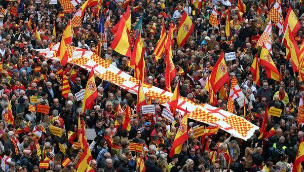 Marcha de la Plataforma 'Tabarnia' en Barcelona, España - Sputnik Mundo