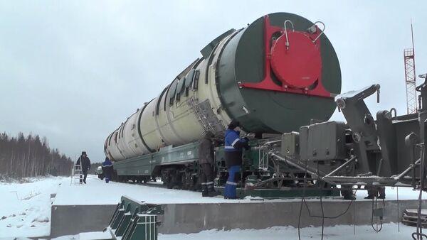 Sistema de misiles Sarmat (archivo) - Sputnik Mundo