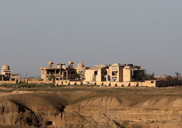 El palacio de Sadam Husein en Tikrit, Irak