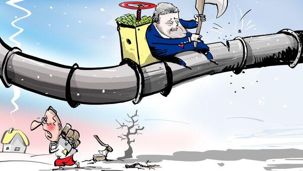 ¡Poroshenko, tengo frío! ¿Para qué congela el presidente ucraniano a su propio pueblo? - Sputnik Mundo