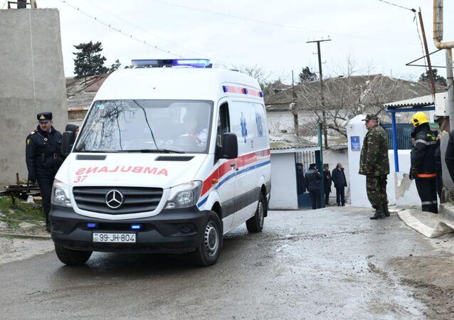 Una ambulancia azerbaiyana