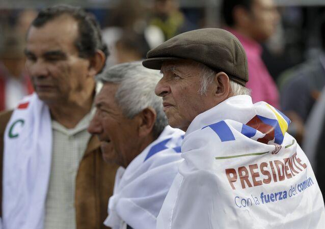 Los seguidores del partido político FARC (imagen referencial)