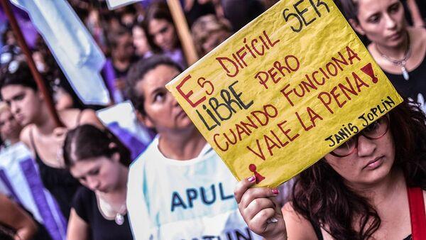 Paro Internacional de Mujeres en Santa Fe, Argentina, 2017 - Sputnik Mundo