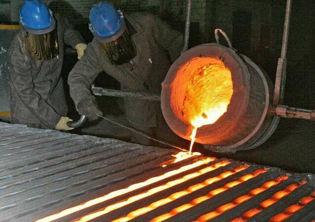 На подмосковном металлургическом заводе в Ступино