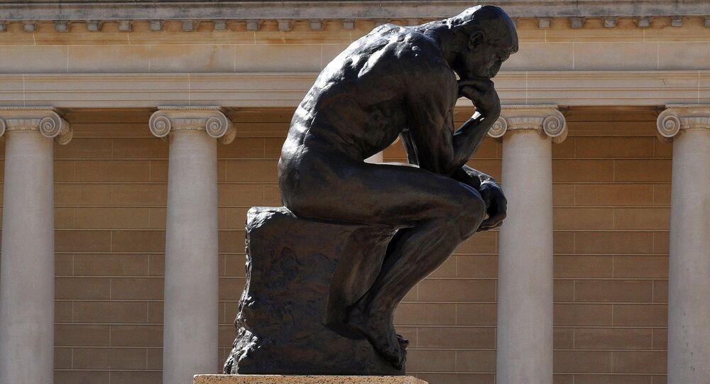 'El Pensador' de Auguste Rodin (imagen referencial)