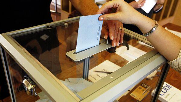 Una urna de votación - Sputnik Mundo