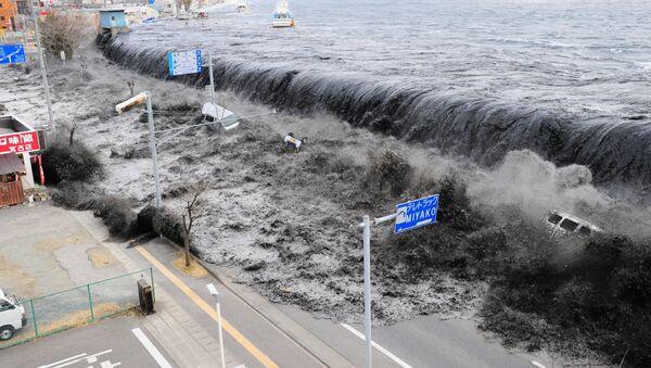 Un potente tsunami azota las costas nororientales de Japón - Sputnik Mundo