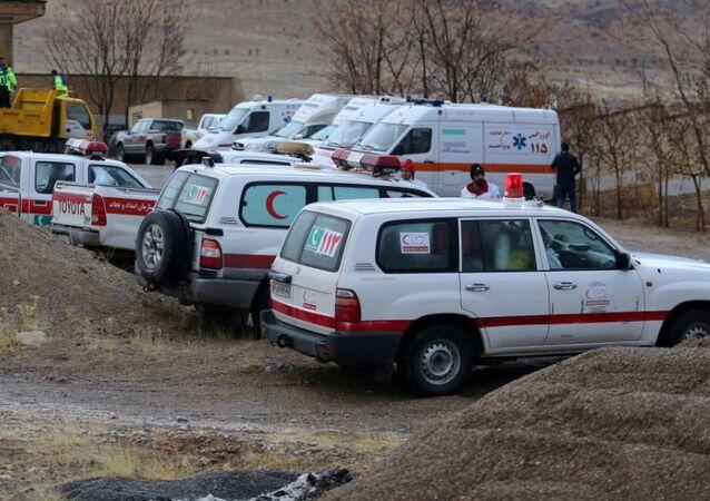 Ambulancias iraníes (archivo)