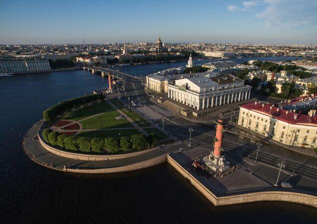 La vista de San Petersburgo desde arriba