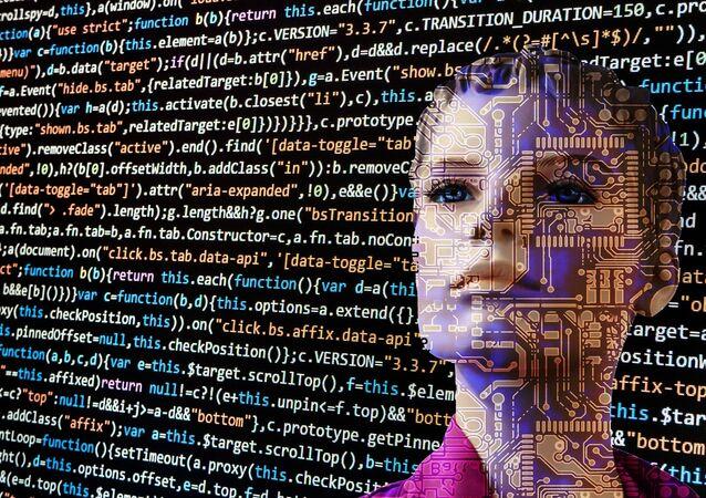 Representación de fantasía de inteligencia artificial
