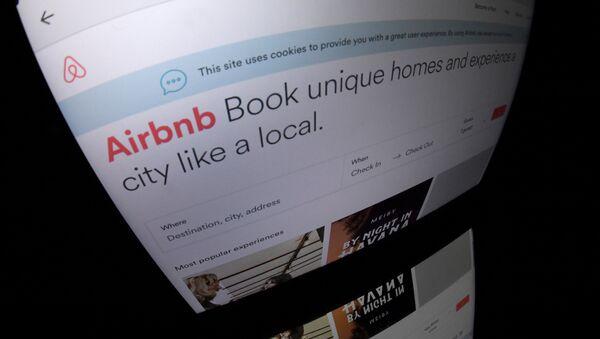La página web del servicio Airbnb - Sputnik Mundo