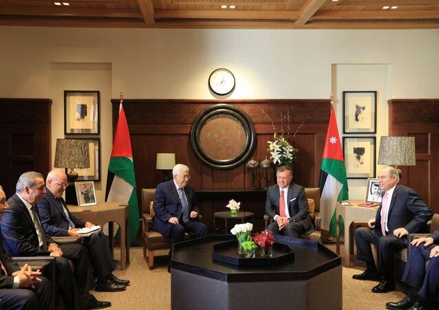 El presidente palestino, Mahmud Abás, y el rey Abdalah de Jordania