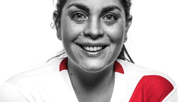 Jessica Lapeyre, hincha de la selección peruana de fútbol - Sputnik Mundo