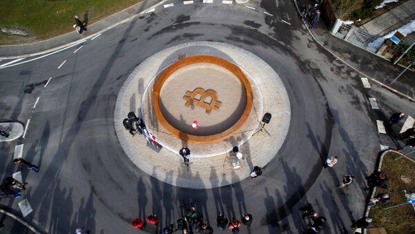 El primer monumento del mundo dedicado a la tecnología 'blockchain' en Slovenia - Sputnik Mundo