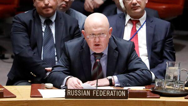 Vasili Nebenzia, el Representante Permanente de Rusia ante la ONU - Sputnik Mundo